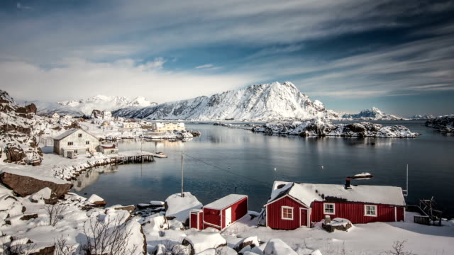 TIME LAPSE: Lofoten Winter Landscape video