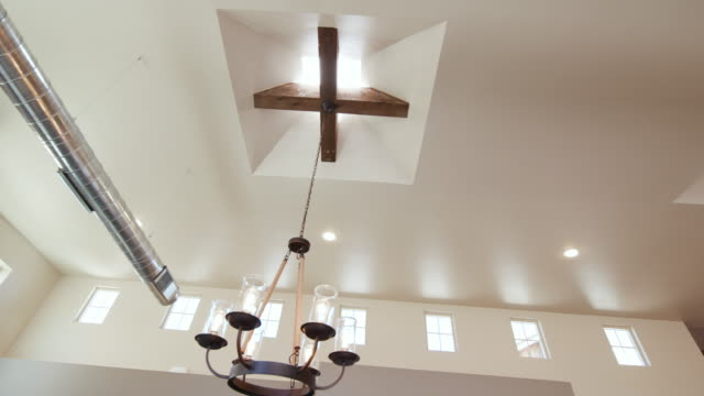 Loft Style Modern Ceiling Look with Chandelier video