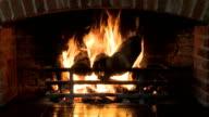 Log fire brick surround video
