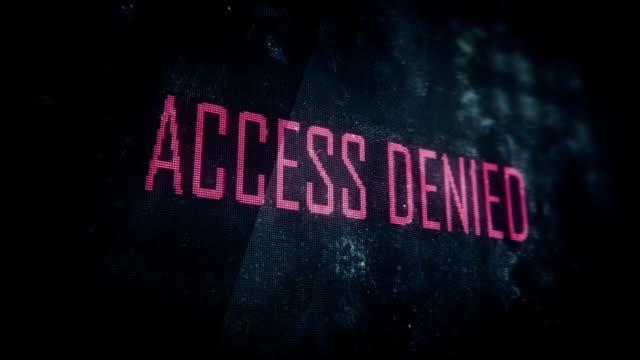 Login attempt, wrong password, access denied screen text, system message video
