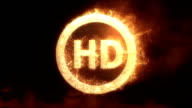 HD Logo With Fire video