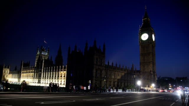 London at night video