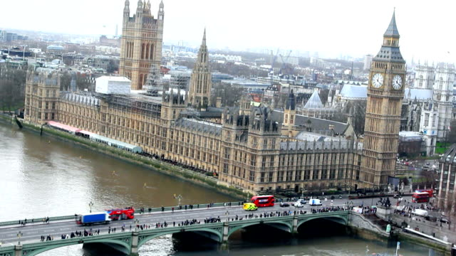 London, Big Ben, Thamse river video