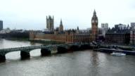 London, Big Ben, Thamse river video