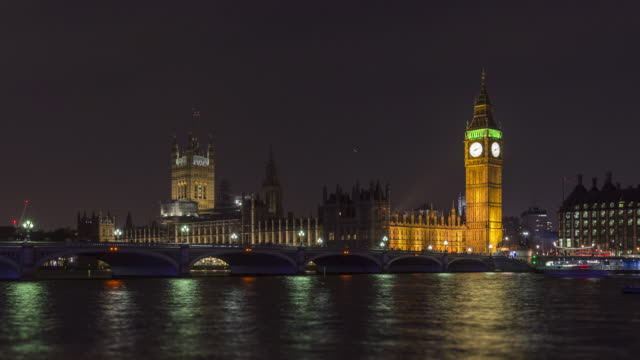 London, Big Ben, the Houses Of Parliament, and the Thames video