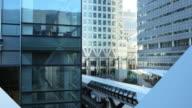 London Canary Wharf Adams Plaza Bridge (UHD) video