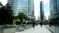 London Canary Wharf Business District (4K/UHD to HD) video