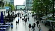 London Canary Wharf Reuters Plaza (4K/UHD to HD) video