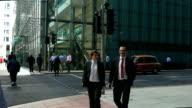 London Canary Wharf Street Scene (4K/UHD to HD) video