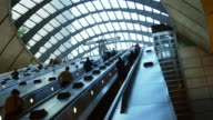 London Canary Wharf Tube Station Escalator (UHD) video