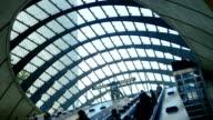 London Canary Wharf Tube Station Escalator (4K/UHD to HD) video