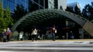 London Canary Wharf Tube Station (4K/UHD to HD) video
