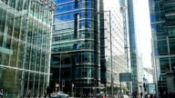 London Canary Wharf Upper Bank Street (4K/UHD to HD) video