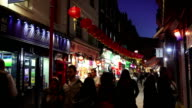 London Chinatown Newport Court At Night video