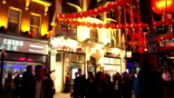 London Chinatown Nightlife Street Scene In Wardour St video