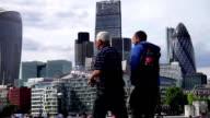 London city skyline video