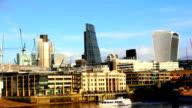 London city, Thamse embankment video