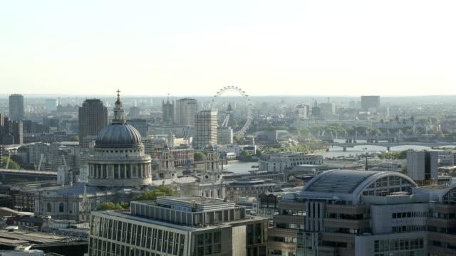 HD London city view time lapse video