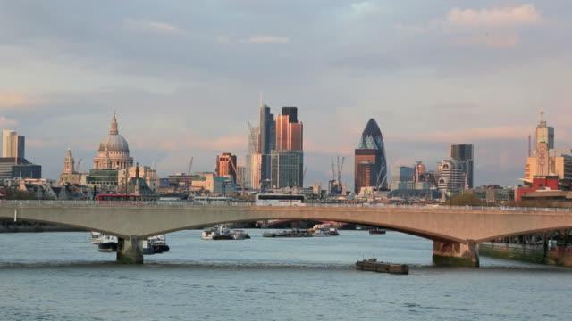 London Cityscape at Sunset, United Kingdom video