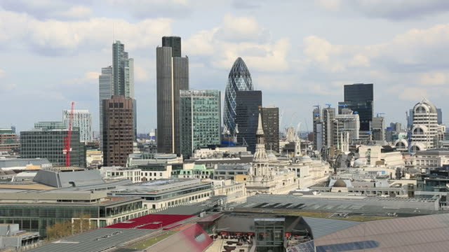 London Cityscape on Cloudy Day, United Kingdom video