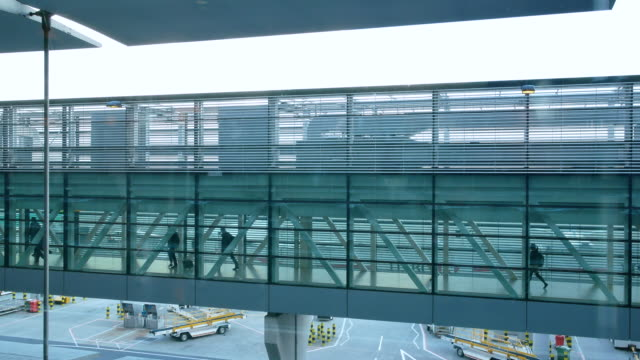 4K London Departure & arrival, movement of passengers at airport video