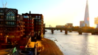 London embankment view. The Shard video