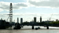 London Eye And Westminster Viewed From The Northeast video