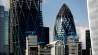 London financial centre closeup video