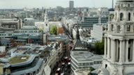 London Fleet Street High Angle View (4K/UHD to HD) video