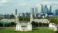 London Greenwich And Canary Wharf Skyline video