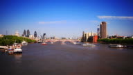 London HD timelapse. River Thames and city from Waterloo Bridge video