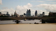 London HD timelapse. River Thames from Charing Cross Millenium Bridge video