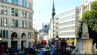London Ludgate Hill From St Paul's Churchyard (4K/UHD to HD) video