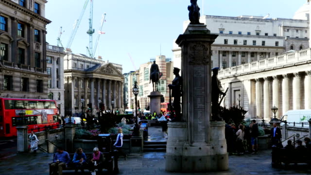 London Mansion House And Bank Of England (4K/UHD to HD) video