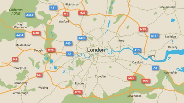 London Map Animation 4K video