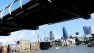 London Millennium Bridge And City (4K/UHD to HD) video
