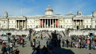 T/L London National Gallery On Trafalgar Square video