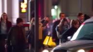 London night time crowd video