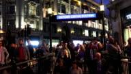 London Oxford Circus Subway Station Entrance At Night video