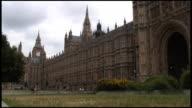 (HD1080i) London Parliament (Big Ben) Park & Traffic video