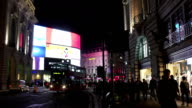 T/L London Piccadilly Circus And Regent Street At Night video