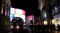 London Piccadilly Circus And Regent Street At Night video