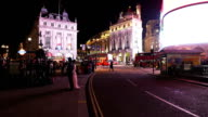 London Piccadilly Circus At Night Time Lapse video