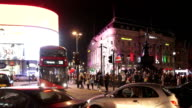 London Piccadilly Circus At Night video