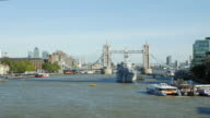 London River Thames And Tower Bridge From The West (UHD) video