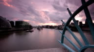 London River Thames Clouds and Sunset Timelapse video