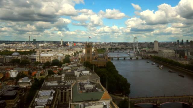 London River Thames skyline time-lapse. HD, NTSC, PAL video