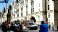 London Royal Courts of Justice In The Strand Road (4K/UHD to HD) video