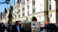 London Royal Courts Of Justice In The Strand Road video