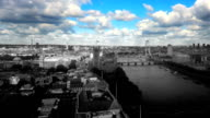 London skyline time-lapse with color effect. HD video